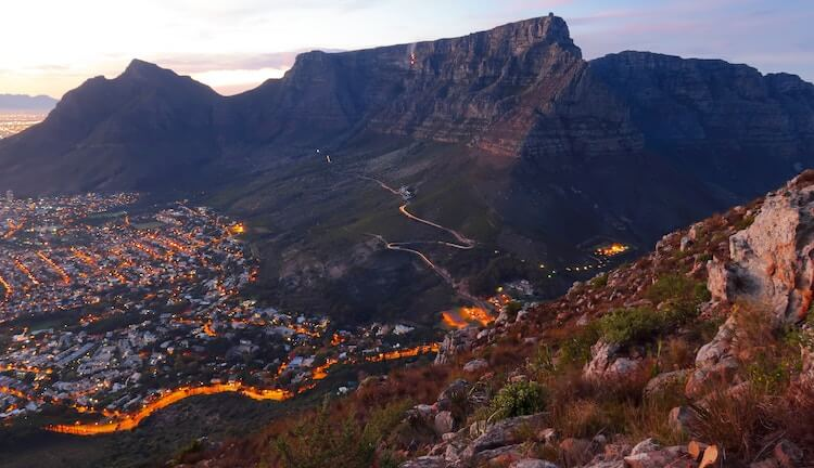 The View from Lion's Head in Cape Town   South Africa itinerary for 2 weeks
