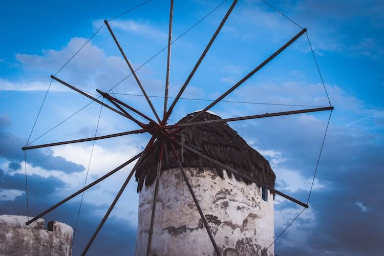 Windmill in Mykonos During Greece itinerary in 7 days