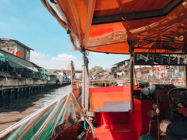 Boating on the canals in Bangkok