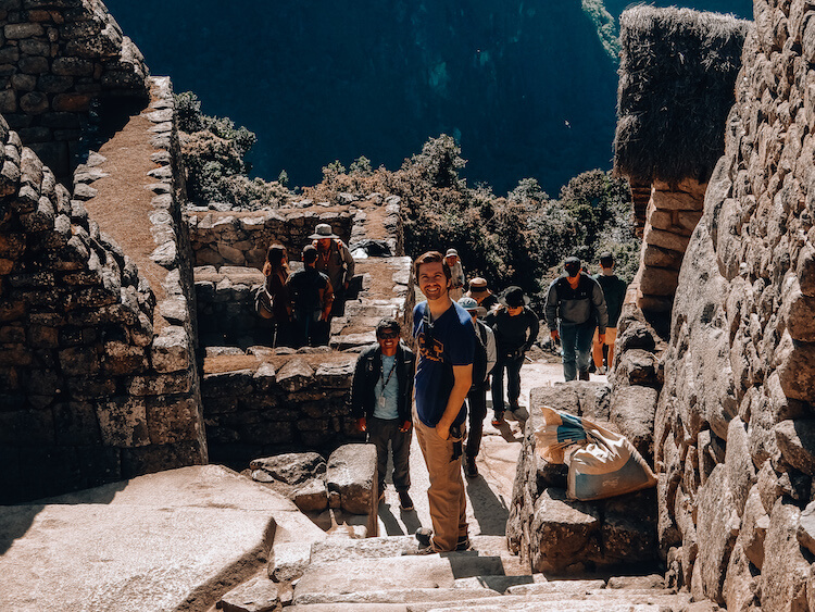 Chris and Yeicob at Machu Picchu