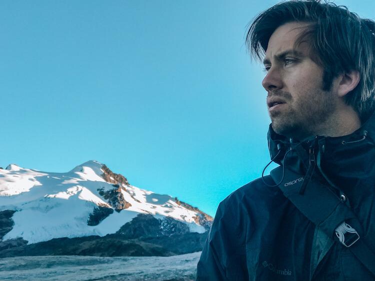 Chris hiking Rainbow Mountain