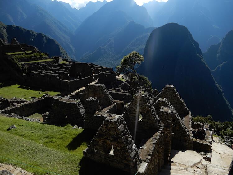 Houses at Machu Picchu