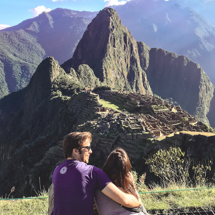 Kat and Chris at Machu Picchu- Best Day Trips from Cusco