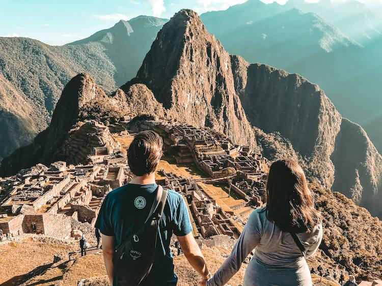 Kat and Chris overlooking Machu Picchu copy