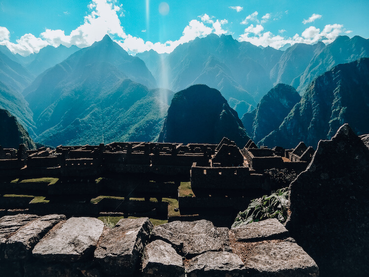 Machu Picchu and the mountains