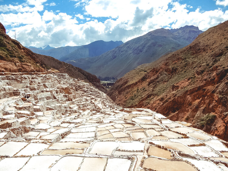 Maras Salt Mines in the Sacred Valley from Cusco
