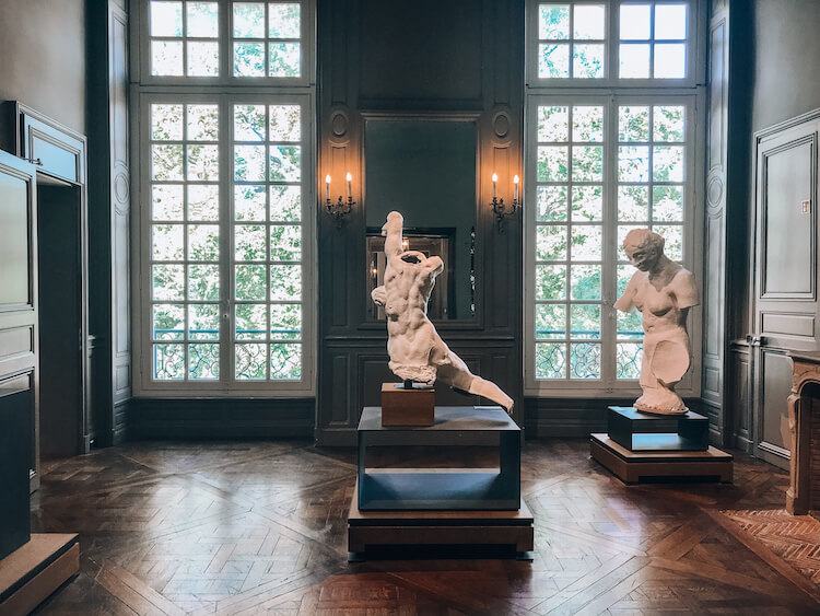 Rodin sculptures in the museum