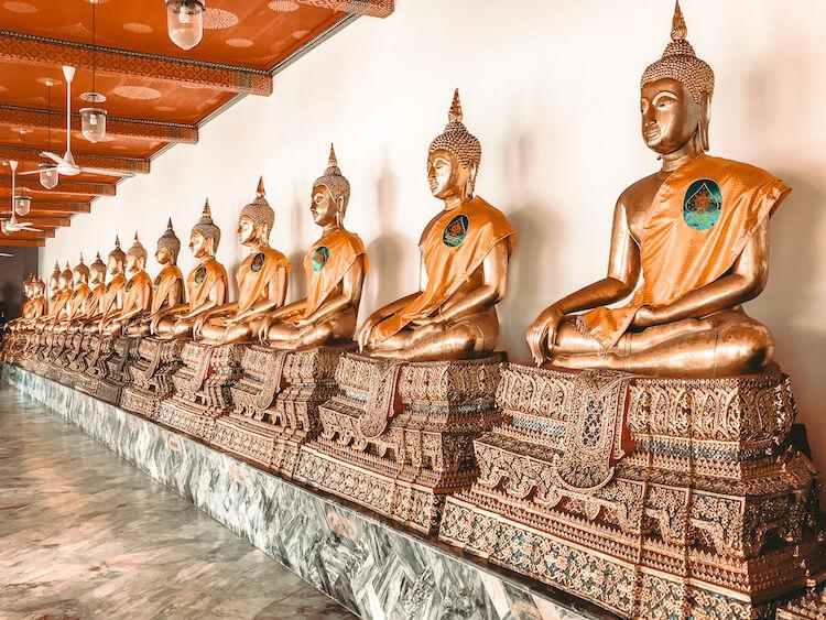 Wat Pho and surrounding temples in Bangkok