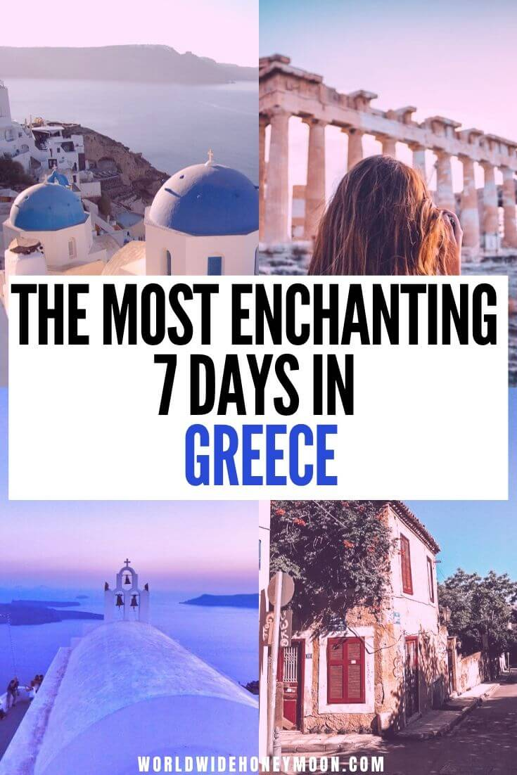 Greek Honeymoon | Greece Honeymoon | Where to Go in Greece For 7 Days | Places to Visit in Greece | Greece Itinerary | What to do in Greece | Vacation in Greece | Greece Island Hopping | Everything Greece | Explore Greece | Santorini Greece | Athens Greece #greece #greeceguide #greecetravel #santorini #athens #greekislands
