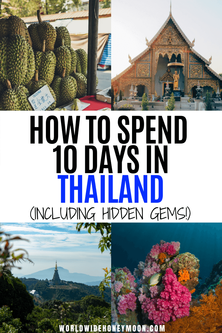 This is the perfect 10 Day Thailand Itinerary | Thailand in 10 Days | Thailand Trip | Thailand 10 Day Itinerary | Things to do in Thailand | Places to Visit in Thailand | Best Thailand Islands | Best Beaches in Thailand | 10 Days in Thailand Itinerary | 10 Days in Thailand Packing List | Thailand Travel Tips | Thailand Travel Destinations | Thailand Honeymoon Itinerary #thailanditinerary10days #thailandhoneymoon #10daysinthailand #thailanditinerary
