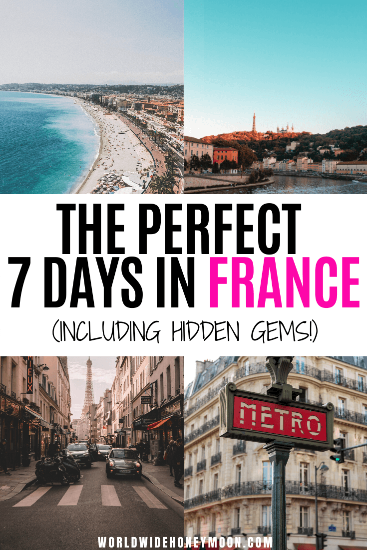 This is the perfect France Itinerary for One Week | France Itinerary 7 Days | 7 Days in France | 7 Days in France Itinerary | France Travel | France Photography | France Countryside | France Itinerary 7 Days | Week in France Itinerary | One Week in France  #france #francetravel #lyon #paristravel #nicetravel #annecy #franceitinerary
