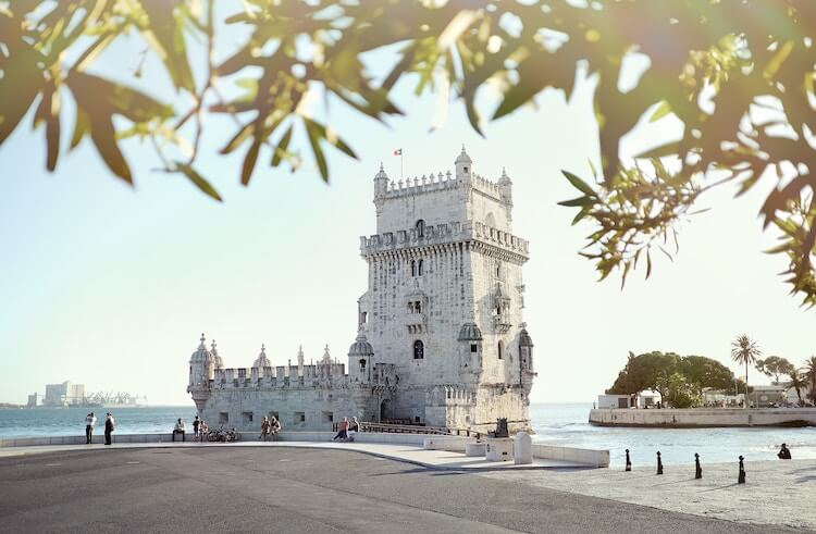 Belem Tower in the morning in Lisbon, Portugal
