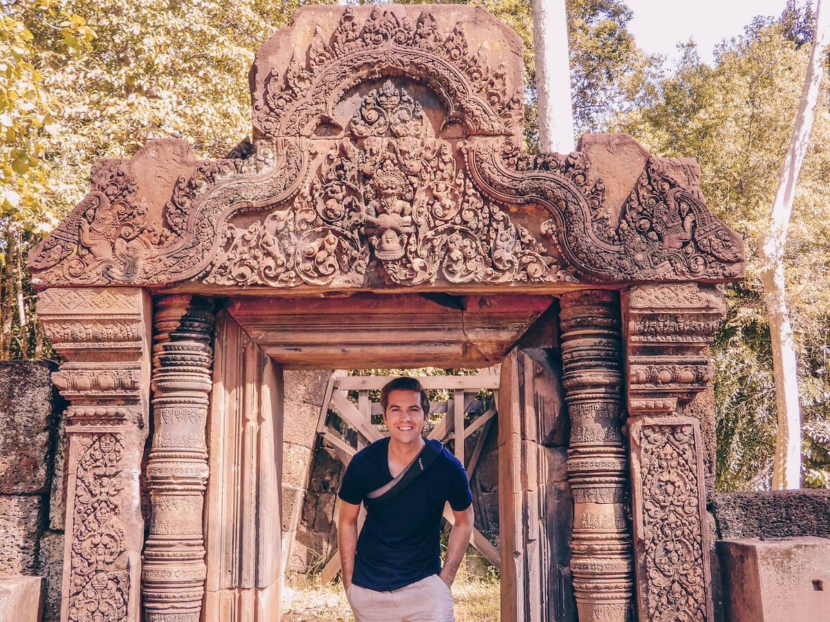Chris at Angkor Wat