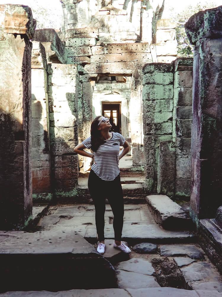 Kat at Ankor Wat