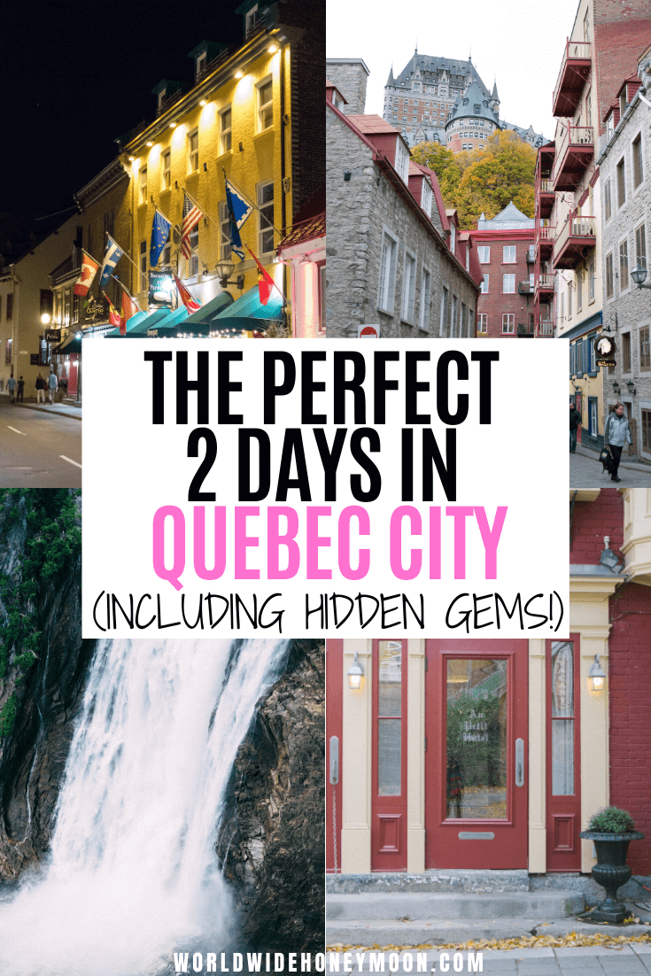 This is the ultimate Quebec City 2 day itinerary | Quebec City Canada | 2 Days in Quebec City | 2 Day Itinerary Quebec City | What to do in Quebec City in 2 Days | Quebec City Things to do | Quebec City 2 Days | Weekend in Quebec City | Quebec Weekend Trip | Quebec City Weekend | Girls Weekend Quebec City | Canada Travel | Quebec Canada | Visit Canada | Visit Quebec City #visitcanada #quebeccity #quebeccanada #quebeccitycanada