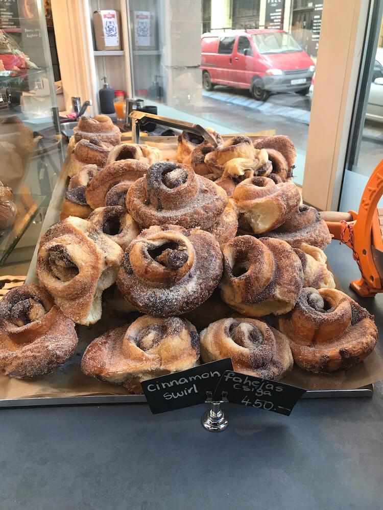 Aran Bakery in Budapest Cinnamon Swirl - Best restaurants in Budapest