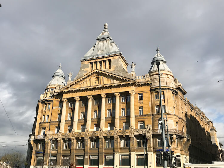 Building architecture in Budapest