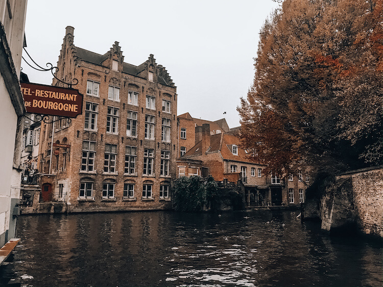 Canals in winter in Bruges Belgium-Bruges in a day trip