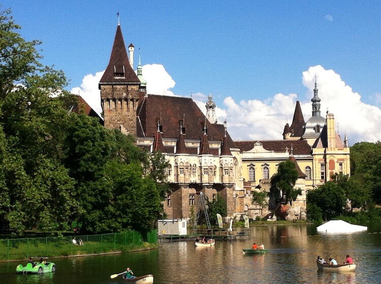 Castle in the Park in Budapest