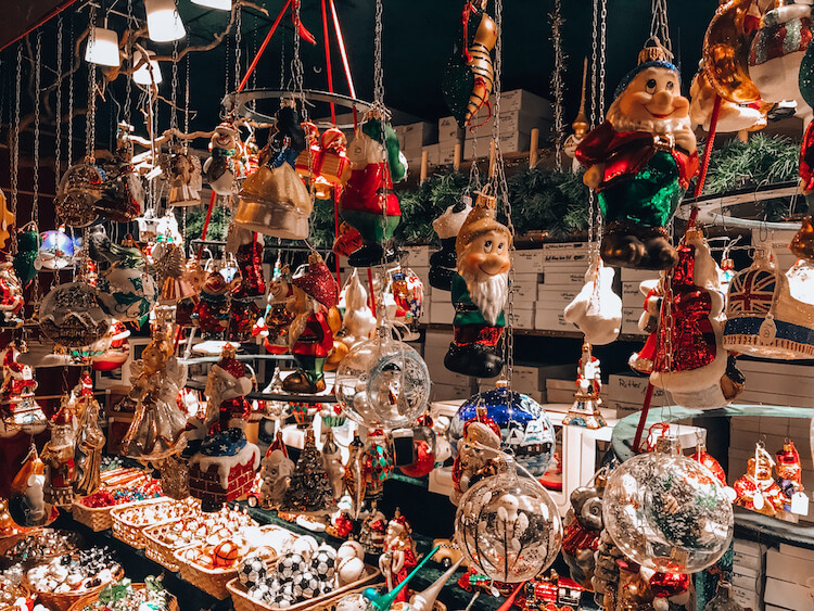 Christmas ornaments at the Christmas Markets in Cologne, Germany