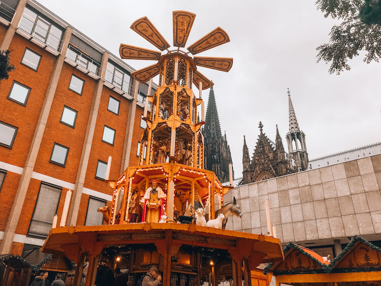 Christmas pyramid in Cologne