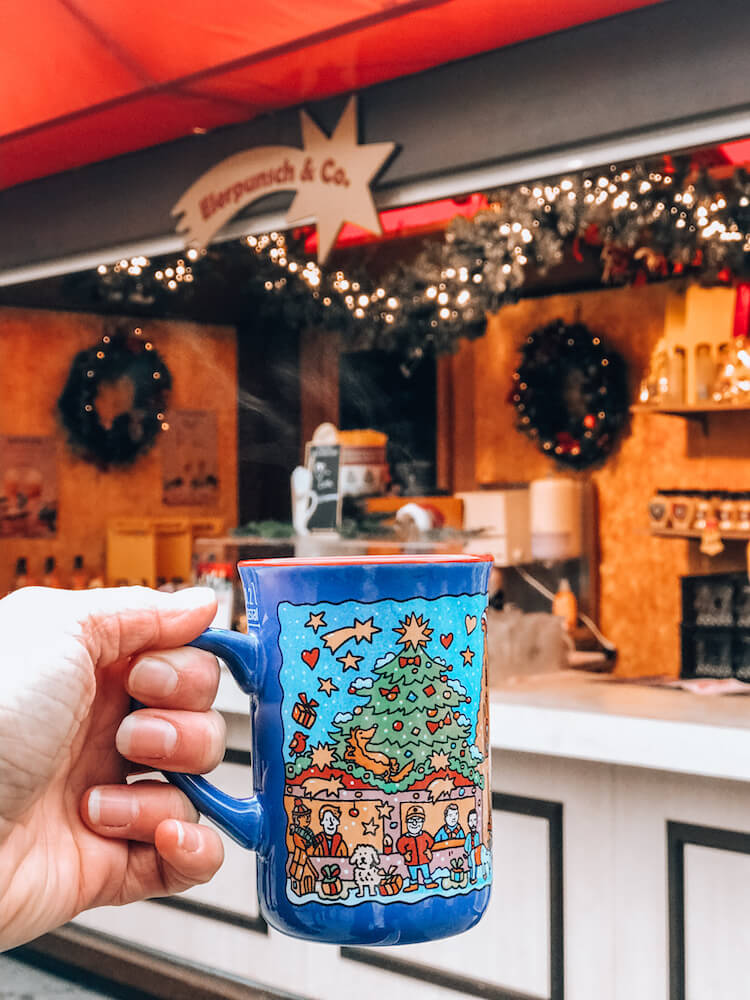First cup of gluhwein at the Cologne Cathedral Christmas Market