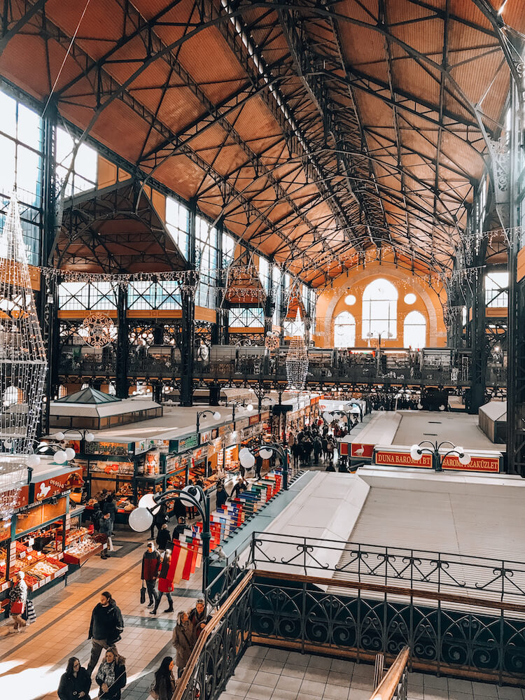 Inside of Central Market Hall in Budapest - Budapest in 4 days