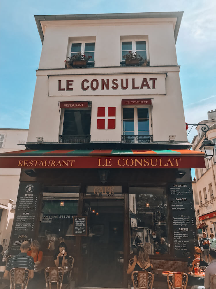 Le Consulat Cafe in Montmartre- Best arrondissement to stay in Paris for couples