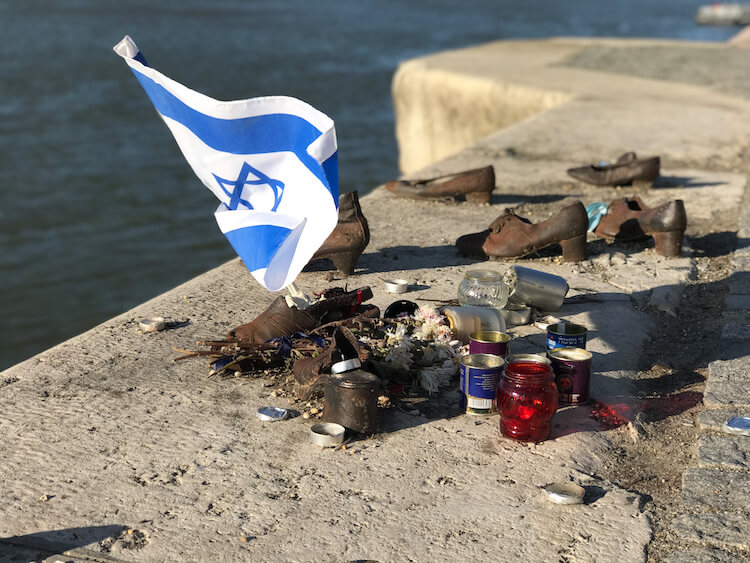 Memorial in Budapest of Shoes on the Danube
