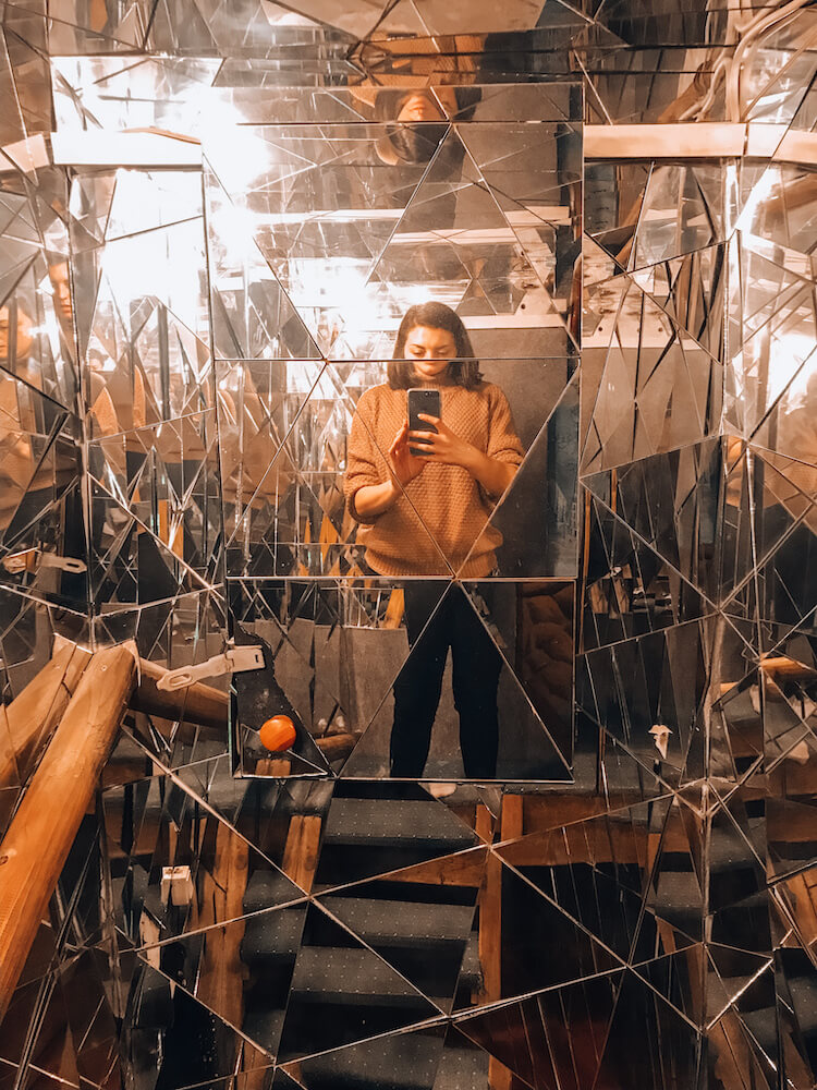 Mirror wall at Sirius Teahouse - Best Things to do in Budapest, Hungary