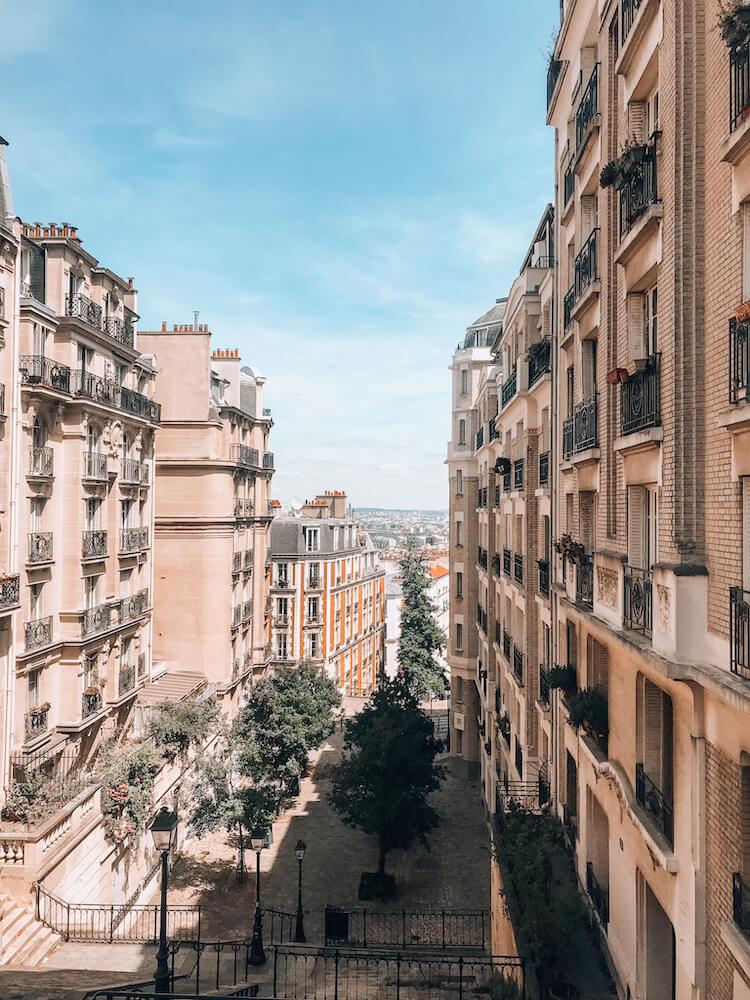 Montmartre neighborhood in Paris, France