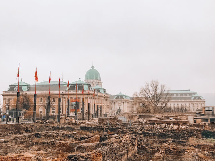 Ruins in front of the Budapest Castle - Top things to do in Budapest in 4 days