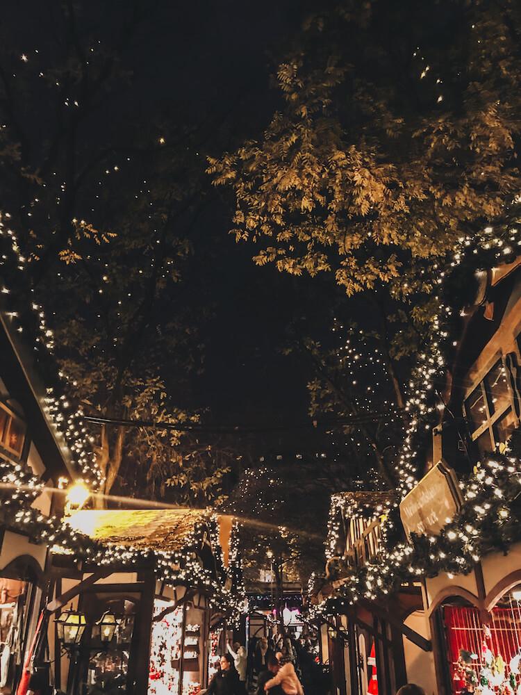 Saint Nicholas Christmas Market at night
