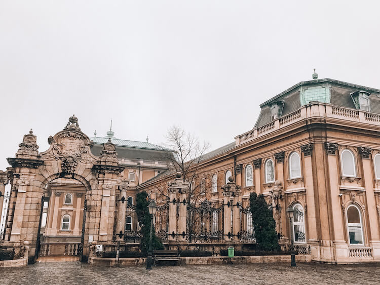 The side entrance to Budapest Castle