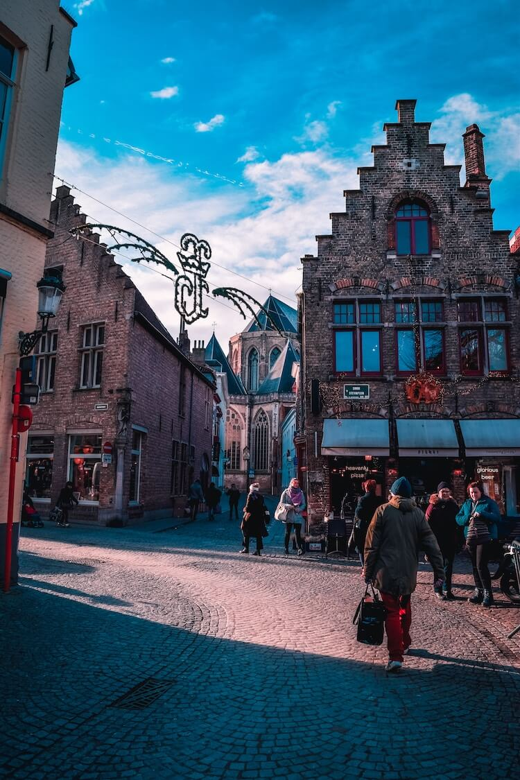 Things to do in Bruges Belgium-Side streets of Bruges