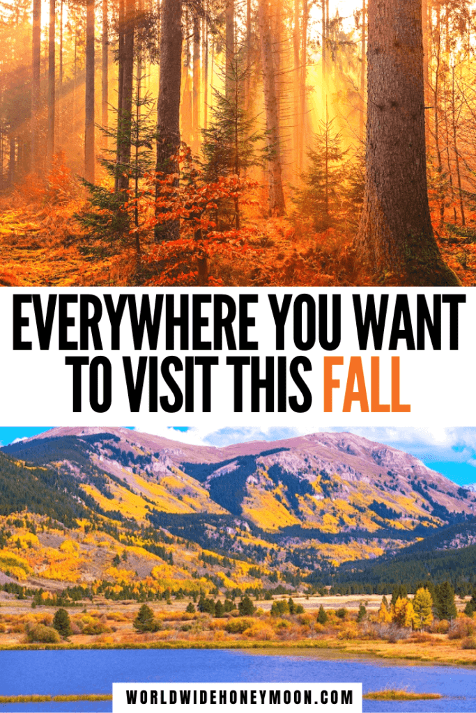 These are the best US fall destinations | US Fall Travel Destinations | Best Fall Destinations in the US | Best US Destinations in the Fall | Fall Honeymoon Destinations in the US | US Honeymoon Destinations in the Fall | Fall Getaways US States | Fall Getaways East Coast | Autumn Weekend Getaway | Fall Travel Destinations USA | Best Fall Road Trips | Fall Destinations USA | October Travel Destinations US