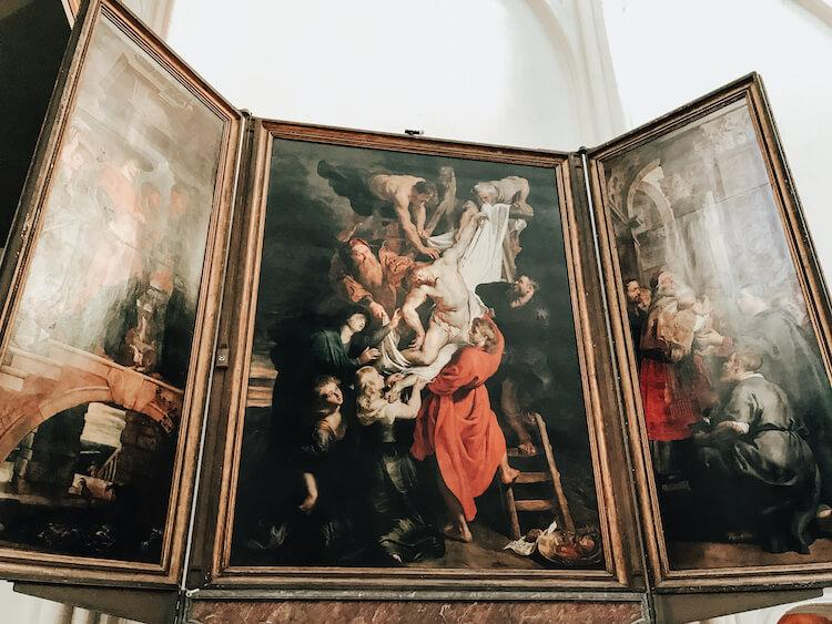 Descent From the Cross by Rubens at Our Lady of Antwerp Cathedral