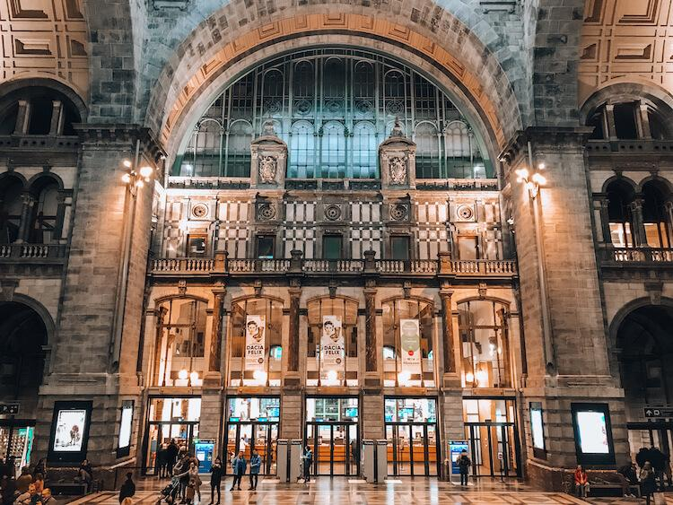 Entrance inside of Antwerp Central Station