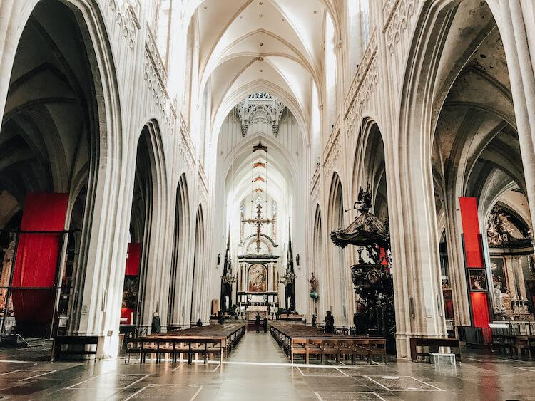 Inside of Our Lady of Antwerp Cathedral