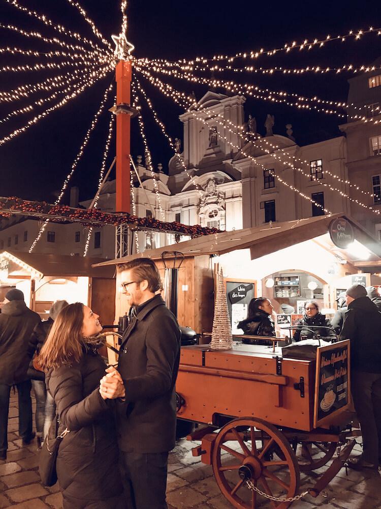 Kat and Chris at the Vienna Christmas Markets
