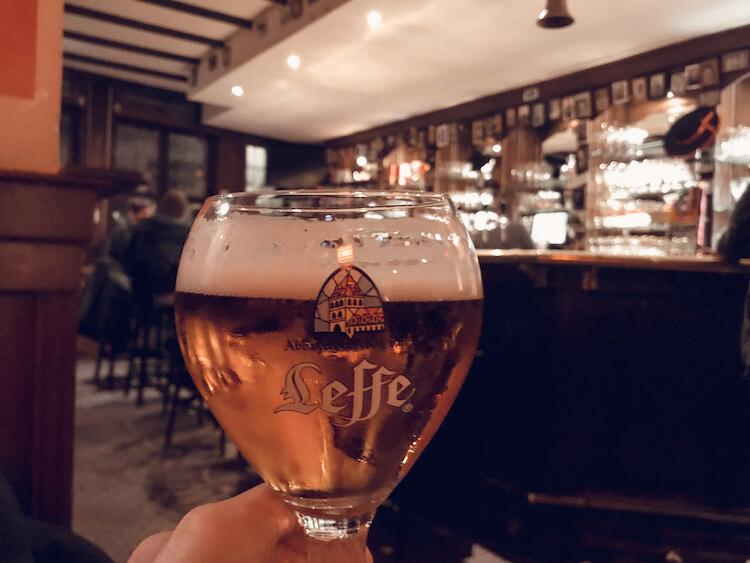 Leffe Beer at a pub in Antwerp in One Day