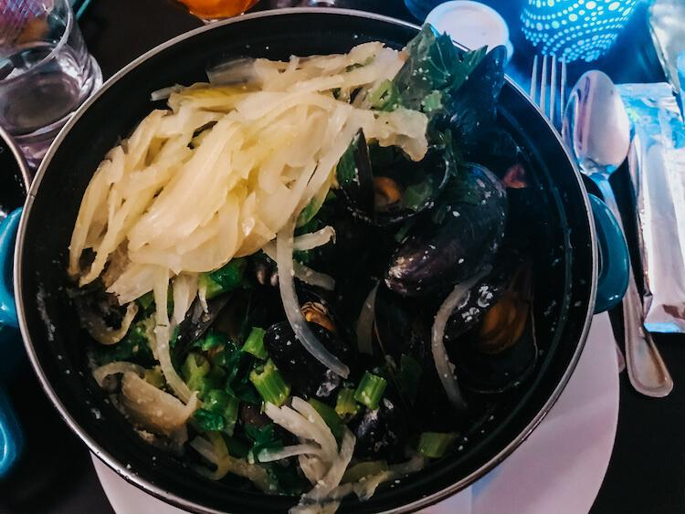 Mussels at De Bomma in Antwerp- Where to Eat in Antwerp