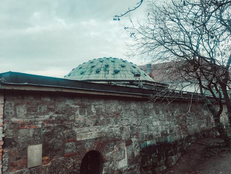 Outside of Rudas Baths Budapest
