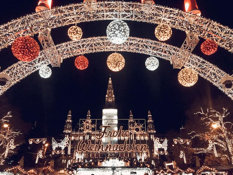 Rathausplatz during the Christmas Markets in Vienna
