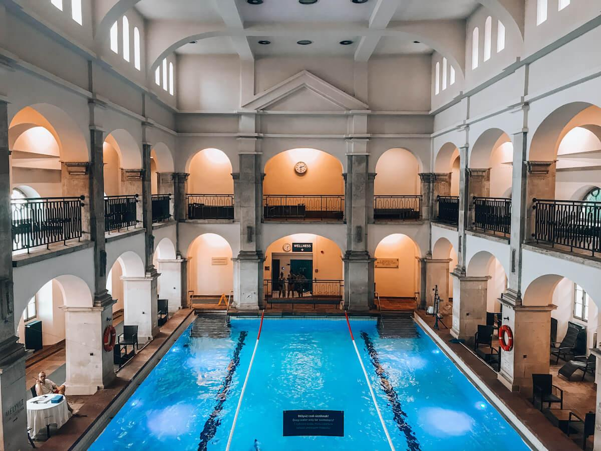 Swimming pool at Rudas Baths in Budapest