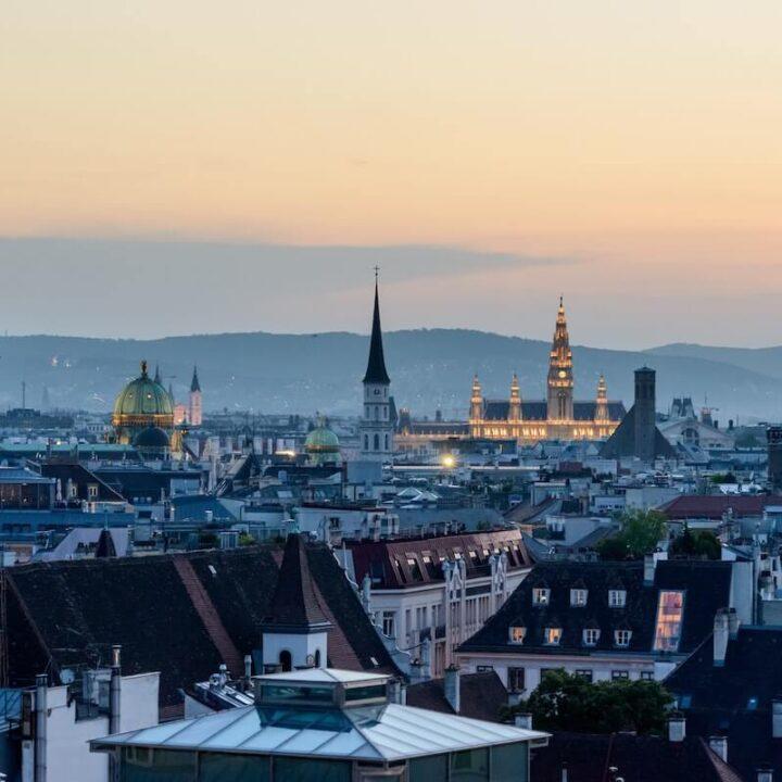 Vienna Skyline at Dusk