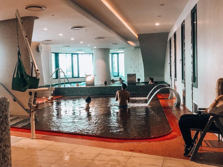 Wellness section of the Rudas Baths