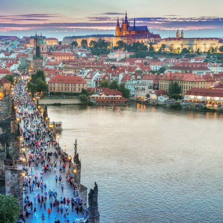 2 Days in Prague skyline with Charles Bridge and Prague Castle in the background