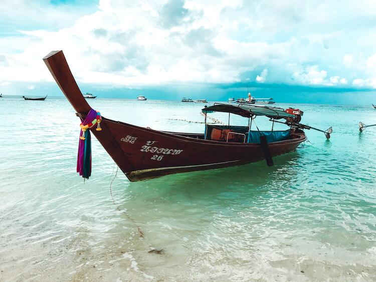 Boat on Koh Lipe in Thailand