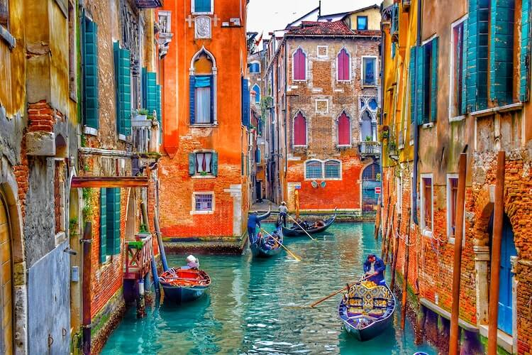 Canals of Venice in Italy